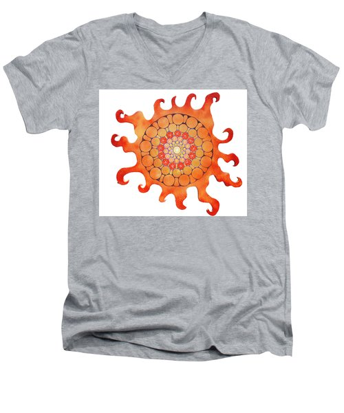 The New Sun Men's V-Neck T-Shirt by Patricia Arroyo