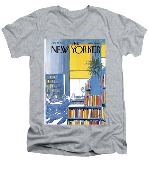New Yorker June 29th 1968 Men's V-Neck T-Shirt
