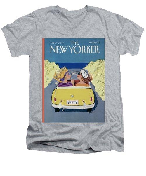 The New Yorker Cover - September 18th, 1989 Men's V-Neck T-Shirt