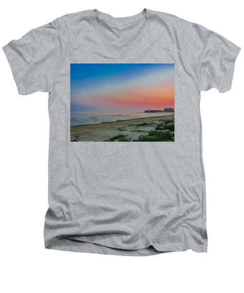 Men's V-Neck T-Shirt featuring the photograph The Night Before Rita by Karen Musick