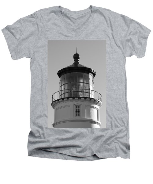 Men's V-Neck T-Shirt featuring the photograph The Night Light by Laddie Halupa