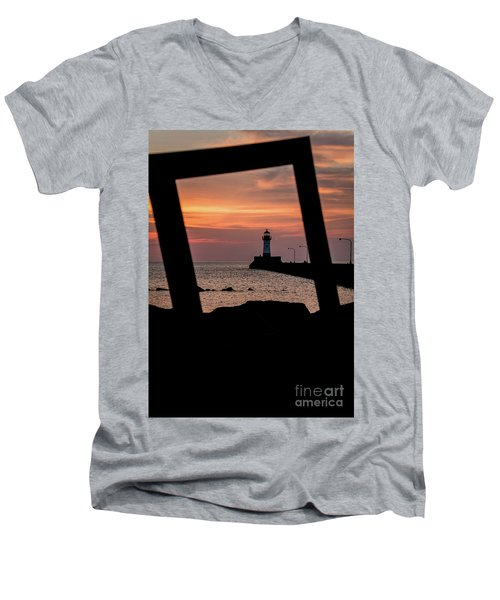The North Pier Lighthouse Men's V-Neck T-Shirt