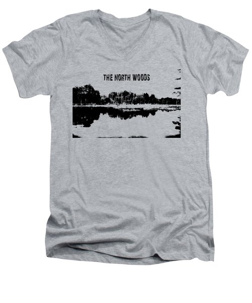 The North Woods Men's V-Neck T-Shirt by Mim White