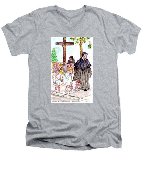 The Nuns Of St Mary's Church Men's V-Neck T-Shirt by Philip Bracco