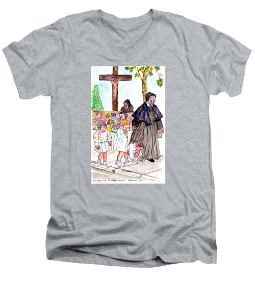 The Nuns Of St Mary's Church Men's V-Neck T-Shirt