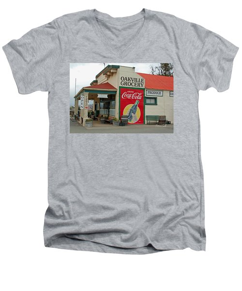 The Oakville Grocery Men's V-Neck T-Shirt by Suzanne Gaff