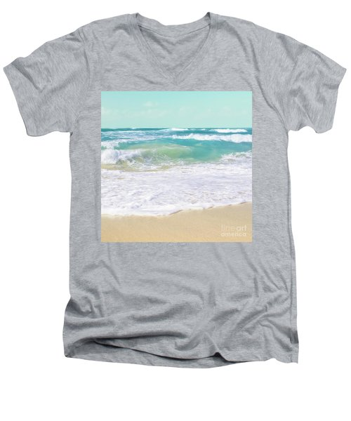 Men's V-Neck T-Shirt featuring the photograph The Ocean by Sharon Mau