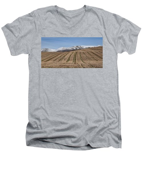 The Ochil Hills In Clackmannanshire Men's V-Neck T-Shirt