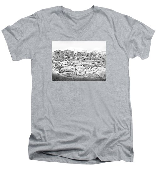 The Old Boat At Peggy's Cove Men's V-Neck T-Shirt