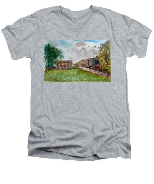 The Old Forsaken Shack Men's V-Neck T-Shirt by Carole Robins