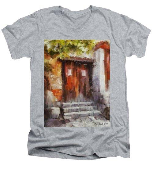 The Old Gate II Men's V-Neck T-Shirt