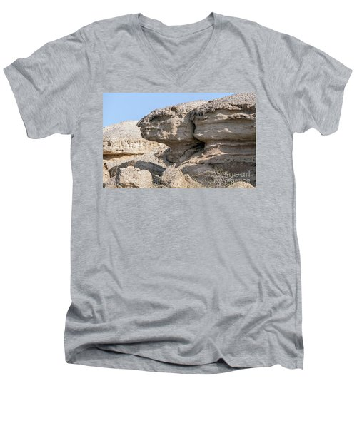 Men's V-Neck T-Shirt featuring the photograph The Old Gatekeeper by Arik Baltinester