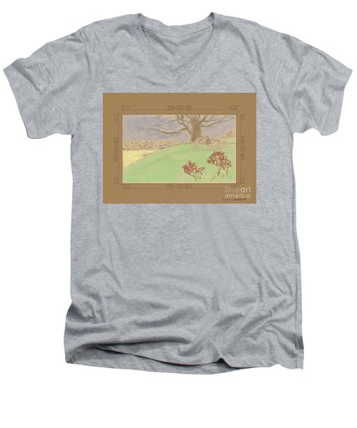 The Old Gully Tree Men's V-Neck T-Shirt