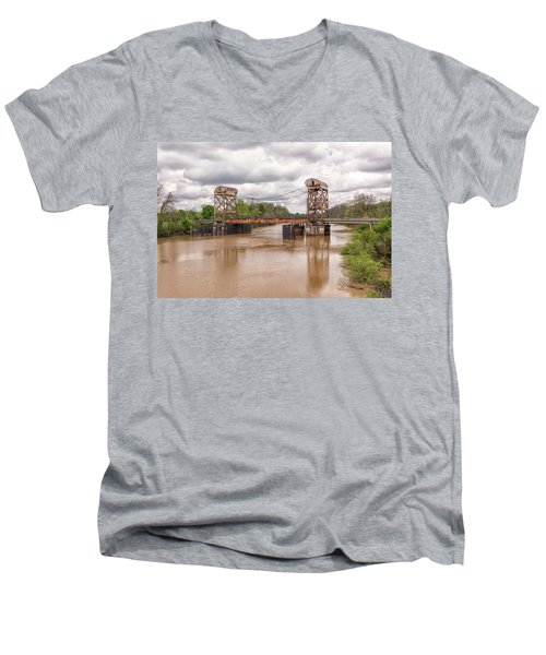 The Old Lift Bridge Men's V-Neck T-Shirt
