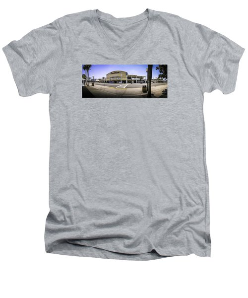 The Old Myrtle Beach Pavilion Men's V-Neck T-Shirt by David Smith