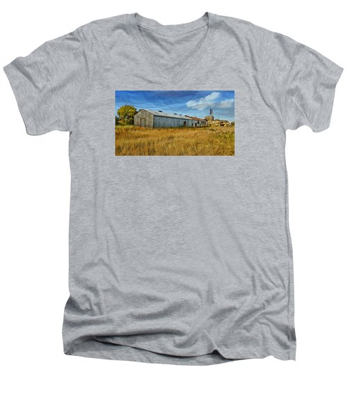 Men's V-Neck T-Shirt featuring the photograph The Old Peters Factory 01 by Kevin Chippindall