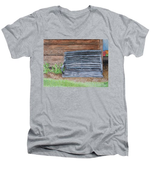 The Old Porch Swing Men's V-Neck T-Shirt by Jean Haynes