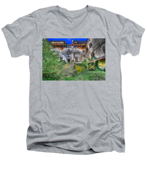 The Old Ruined Castle Men's V-Neck T-Shirt