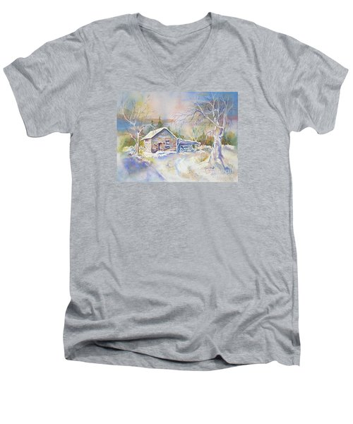 The Old Shed Men's V-Neck T-Shirt by Mary Haley-Rocks