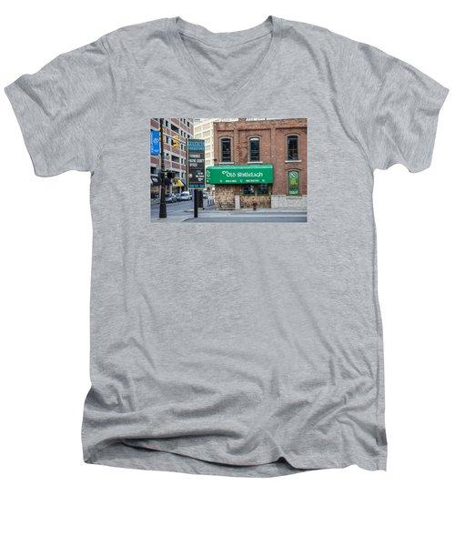 The Old Shillelagh Detroit  Men's V-Neck T-Shirt by John McGraw