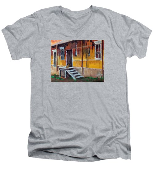 The Old Warehouse Men's V-Neck T-Shirt by Jim Phillips