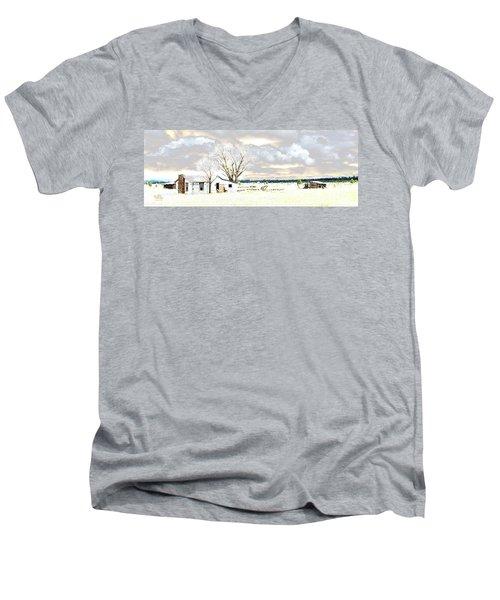 The Old Winter Homestead Men's V-Neck T-Shirt
