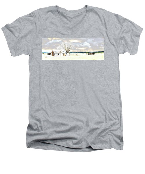 The Old Winter Homestead Men's V-Neck T-Shirt