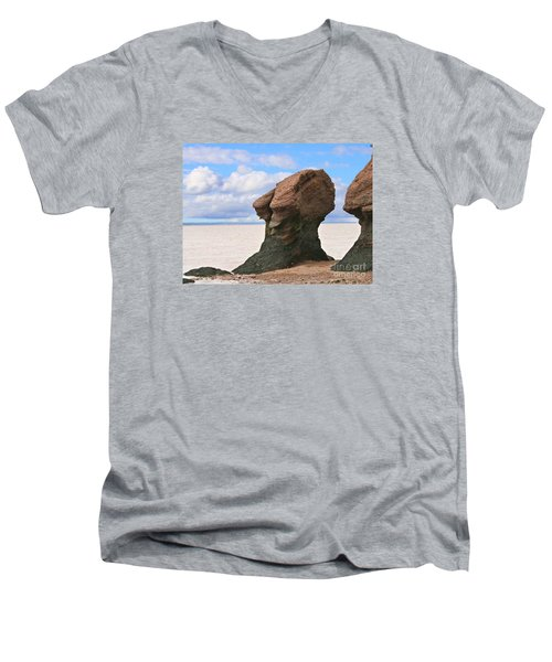The Old Wise One Men's V-Neck T-Shirt by Heather King