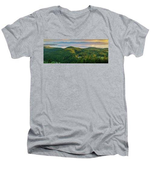 The Olympics From Mt Erie Men's V-Neck T-Shirt