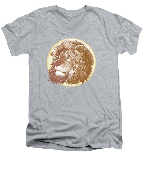 Men's V-Neck T-Shirt featuring the mixed media The One True King by J L Meadows