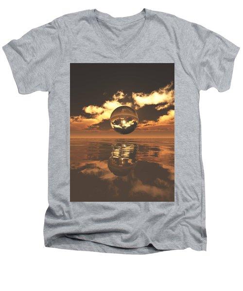 The Orb Men's V-Neck T-Shirt