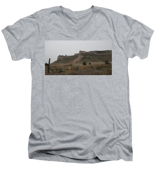 The Oregon Trail Scotts Bluff Nebraska Men's V-Neck T-Shirt