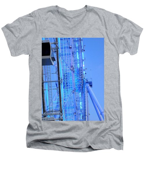 Men's V-Neck T-Shirt featuring the photograph The Orlando Eye 002 by Chris Mercer