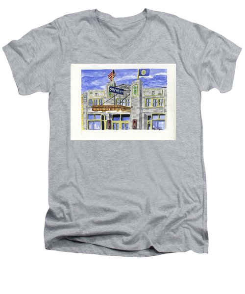The Orpheum Men's V-Neck T-Shirt by Rodger Ellingson