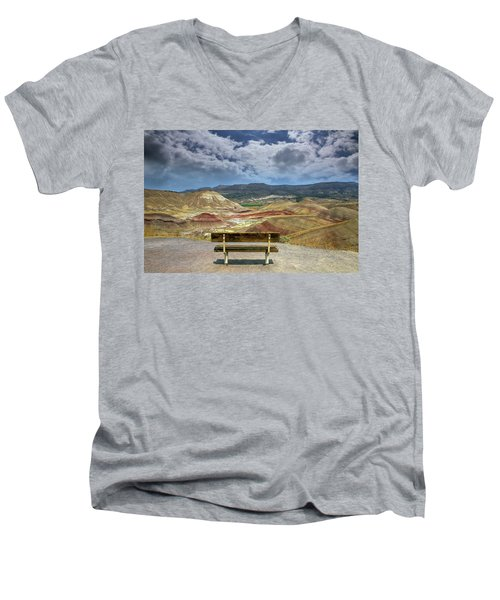 The Overlook At Painted Hills In Oregon Men's V-Neck T-Shirt