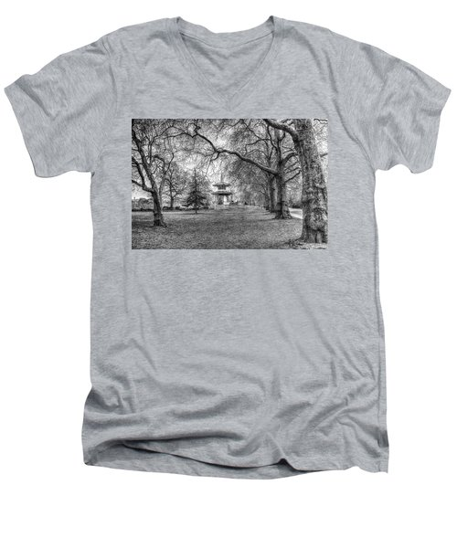 The Pagoda Battersea Park London Men's V-Neck T-Shirt