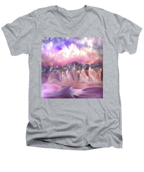 The Painted Sand Rocks Men's V-Neck T-Shirt