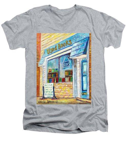 The Paperbacks Plus Book Store St Paul Minnesota Men's V-Neck T-Shirt