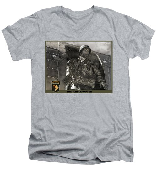 The Paratrooper Men's V-Neck T-Shirt