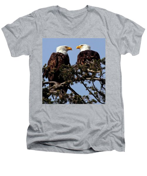 The Parents Men's V-Neck T-Shirt by Sheldon Bilsker