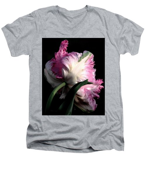 The Parrot Tulip Queen Of Spring Men's V-Neck T-Shirt
