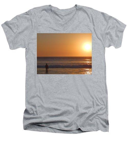 The Passenger Summer Men's V-Neck T-Shirt by Beto Machado