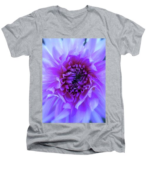 The Passionate Dahlia Men's V-Neck T-Shirt