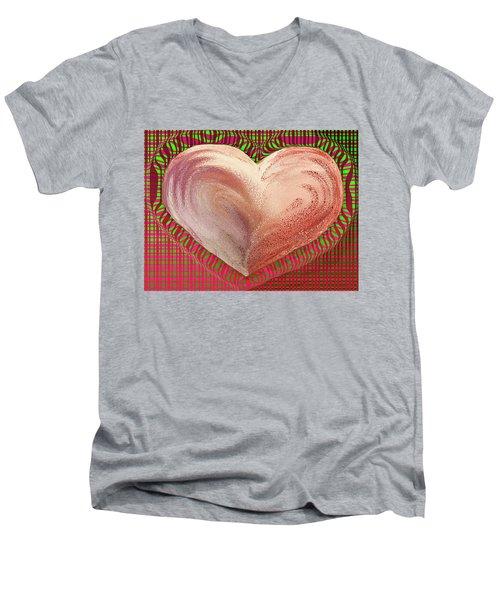 The Passionate Heart Men's V-Neck T-Shirt