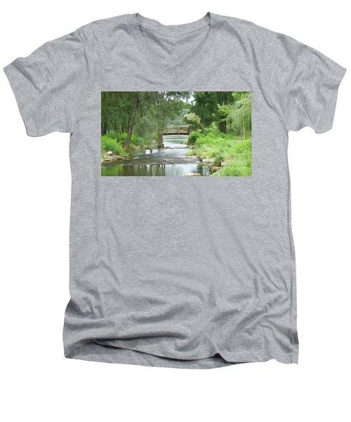 The Pasture's Bridge Men's V-Neck T-Shirt