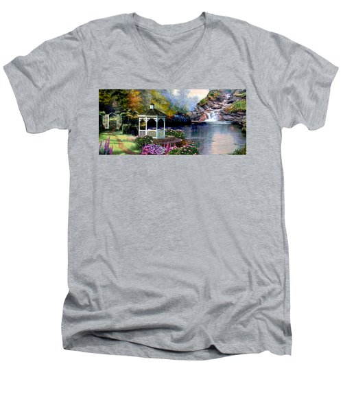 The Path Least Fallowed 2 Men's V-Neck T-Shirt by Ron Chambers