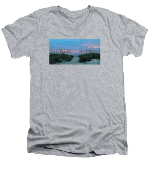 The Path Men's V-Neck T-Shirt by LeeAnn Kendall