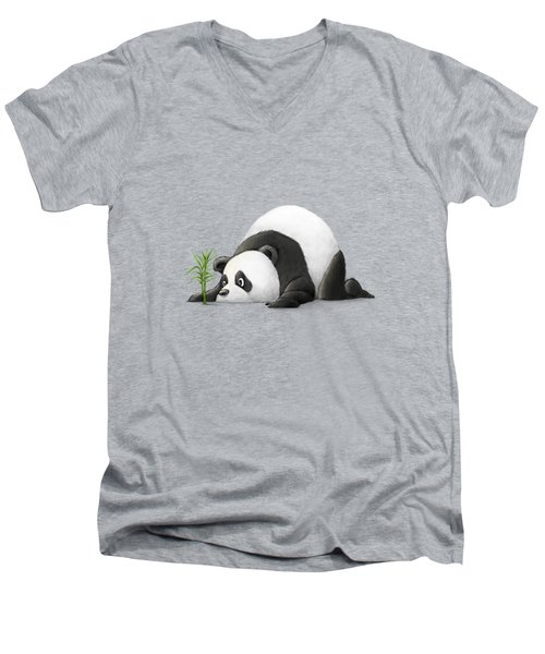 The Patient Panda Men's V-Neck T-Shirt