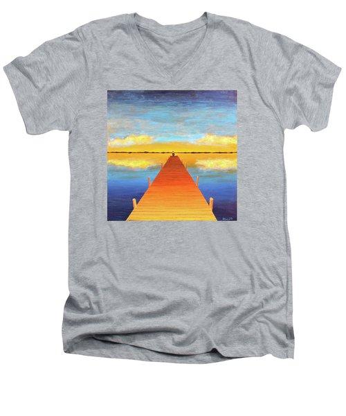 The Pier Men's V-Neck T-Shirt by Thomas Blood