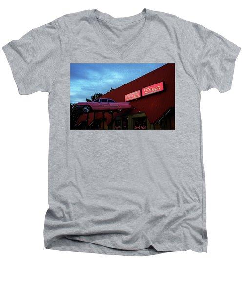 The Pink Cadillac Diner Men's V-Neck T-Shirt